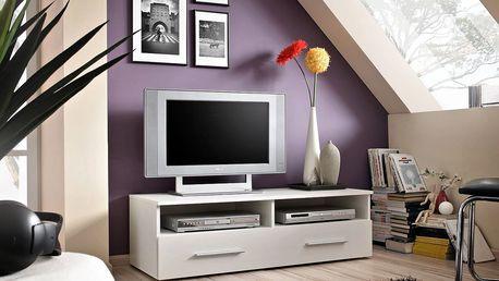 RTV stolek BERN, bílá matná/bílá matná
