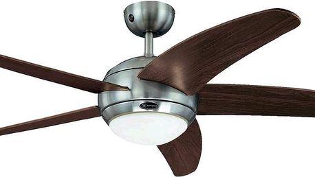 Ventilátor Westinghouse Bendan stropní, 5 lopatek, průměr 132 cm, 58 W, hnědý