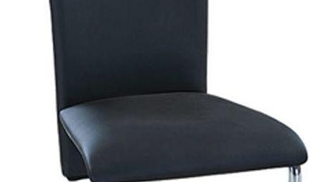 Kovová židle F-245 - černá