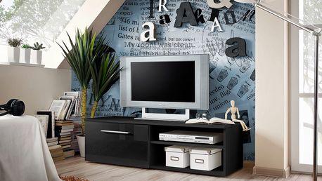 RTV stolek BONO I, černá matná/černý lesk