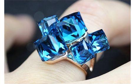 Prsten s krychlovými krystalky - více barev