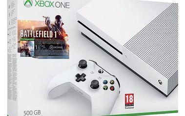 Herní konzole Microsoft 500 GB + Battlefield 1 (ZQ9-00038) bílá