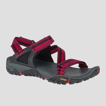 Sandále Merrell ALL OUT BLAZE WEB 40 Červená + DOPRAVA ZDARMA