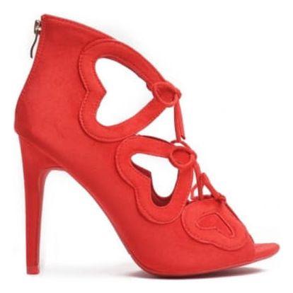 Dámské červené sandály Jane 1240