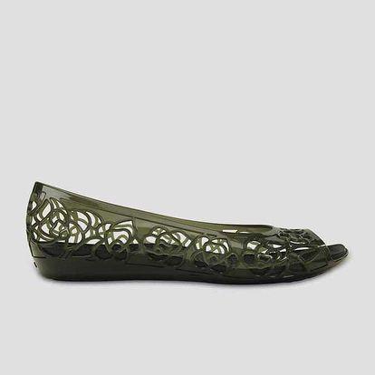 Sandále Crocs Isabella Jelly Flat W 37-38 Černá + DOPRAVA ZDARMA