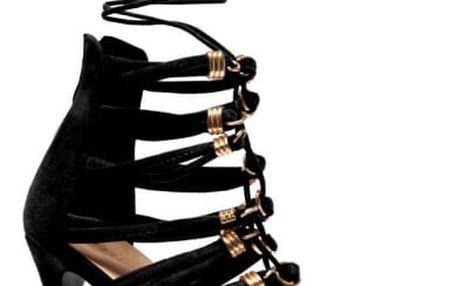 Dámské černé sandály Ariel 1059