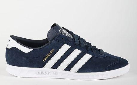 Boty adidas Originals HAMBURG 43 1/3 Modrá + DOPRAVA ZDARMA