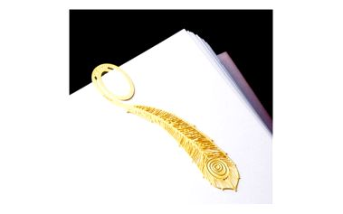 Elegantní záložky ve zlaté barvě - paví pero - dodání do 2 dnů