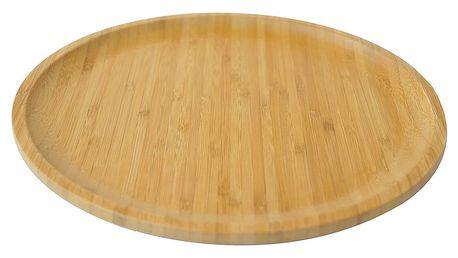 Bambusový servírovací podnos Bambum Penne, 28 cm