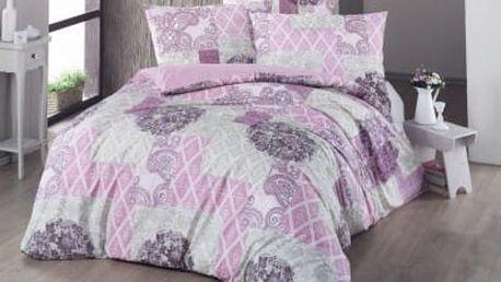 Night in Colors Prodloužené bavlněné povlečení OTTORINO - růžová 140x220, 70x90