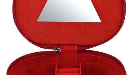 Šperkovnice Friedrich Lederwaren Heart Red, 14x14x4,5cm