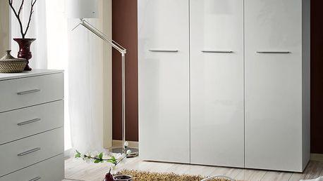 Šatní skříň BIG, bílá matná/bílý lesk