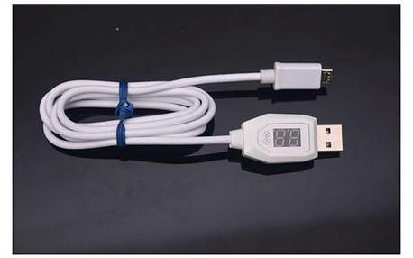 Nabíjecí USB kabel s indikátorem napětí a proudu