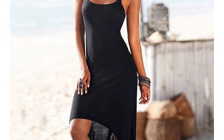 Dlouhé letní šaty v černém provedení