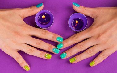 Lakování barevným gel lakem včetně manikúry