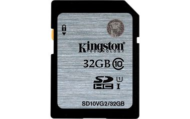 Kingston SDHC 32GB Class 10 UHS-I - SD10VG2/32GB