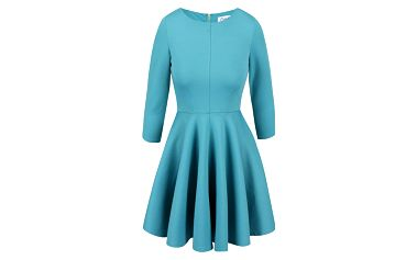 Tyrkysové šaty s 3/4 rukávem Closet