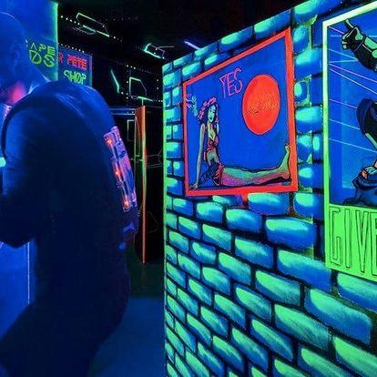 Vstup na akční laser game v centru Prahy