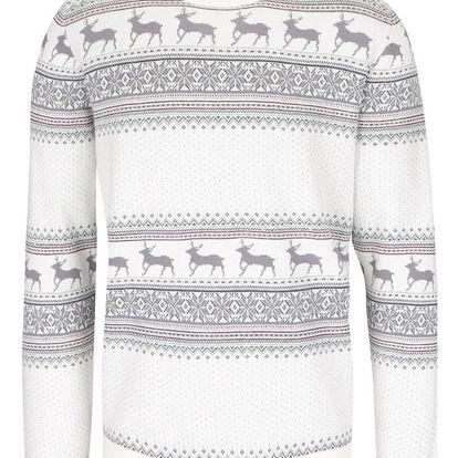 Krémový svetr se vzorem Selected Homme New Reindeer