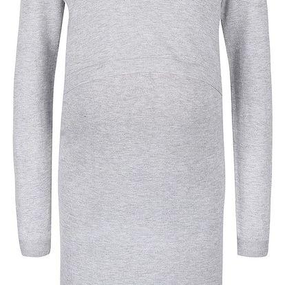 Světle šedé těhotenské/kojicí šaty Mama.licious Cosy