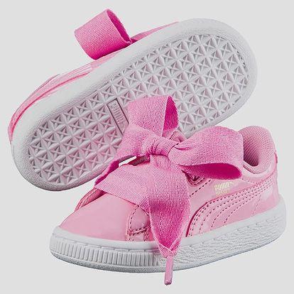 Boty Puma Basket Heart Patent PS 29 Růžová + DOPRAVA ZDARMA