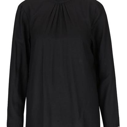 Černá halenka s krajkovými detaily a výstřihem na zádech VILA Meta