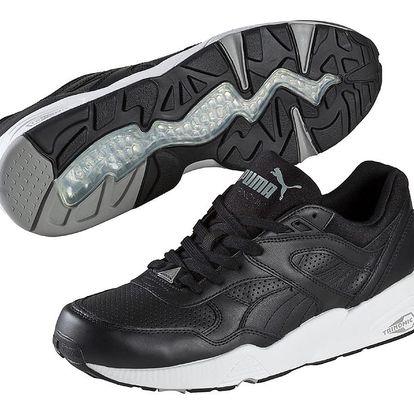 Boty Puma R698 Core Leather black-black-drizzle 40 Černá