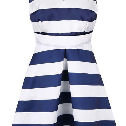 Modro-bílé pruhované šaty AX Paris