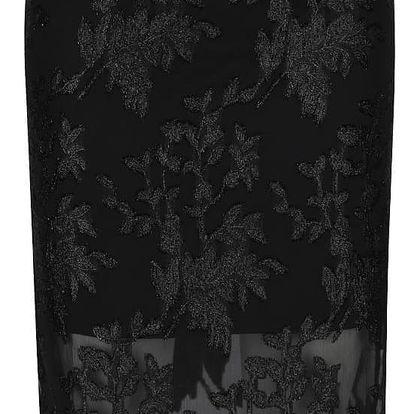 Černá sukně s třpytivým vyšíváním Miss Selfridge