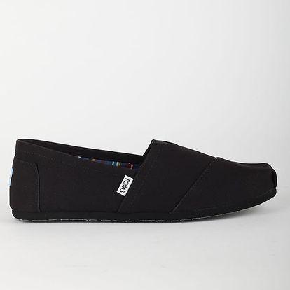 Boty Toms BLACK/BLACK MN CLSC ALPRG 44 Černá + DOPRAVA ZDARMA