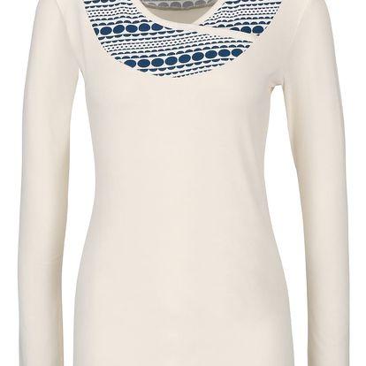 Krémové tričko s dlouhým rukávem Tranquillo Burni