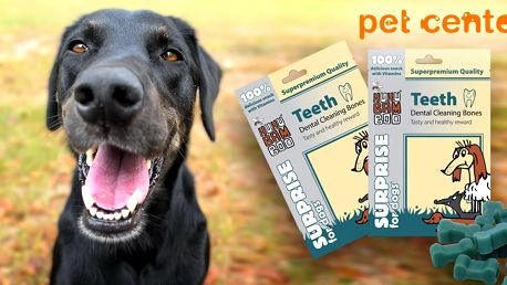 2 balení dentálních kostiček Huhubamboo pro psy