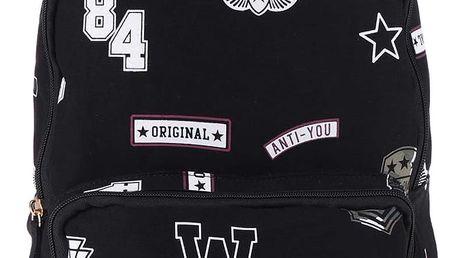 Černý batoh s potiskem Tally Weijl