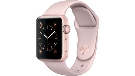 Apple Watch 38mm Rose Gold Aluminium Case with Pink Sand Sport Band - MNNH2CN/A