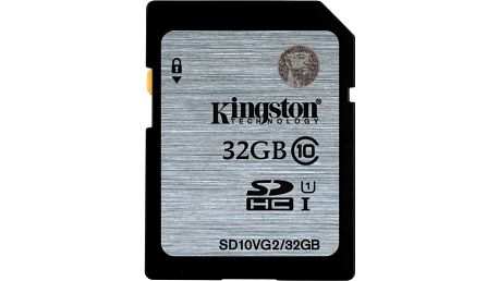 Kingston SDHC 32GB Class 10 UHS-I - SD10VG2/32GB