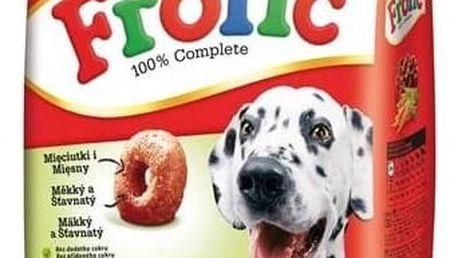 Granule Frolic s hovězím masem, zeleninou a cereáliemi 4 kg