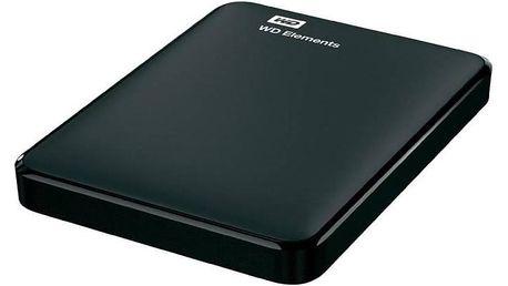 """Externí pevný disk 2,5"""" Western Digital Elements Portable 1TB (WDBUZG0010BBK-EESN) černý + Pouzdro na HDD Western Digital My Passport, černý v hodnotě 99 Kč + Doprava zdarma"""