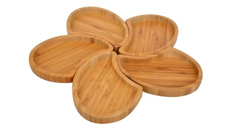 Sada 5 misek Bambum Puzzle Snack