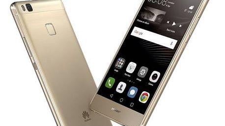 Mobilní telefon Huawei P9 Lite Dual SIM (SP-P9LITEDSGOM) zlatý SIM s kreditem T-Mobile 200Kč Twist Online Internet (zdarma)Voucher na skin Skinzone pro Mobil CZSoftware F-Secure SAFE 6 měsíců pro 3 zařízení (zdarma) + Doprava zdarma