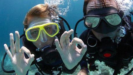 Kurz potápění pro začátečníky: 4 hodiny teorie a ponory v bazénu i ve volné vodě
