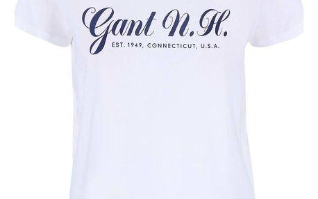 Bílé tričko s potiskem GANT