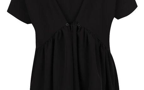 Černé oversize šaty Silvia Serban