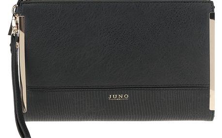 Černé psaníčko s detaily ve zlaté barvě Juno