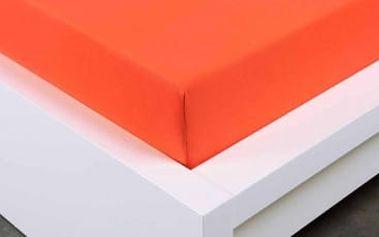 XPOSE ® Jersey prostěradlo dvoulůžko - tmavě oranžová gramaž 150g/m 200x220 cm