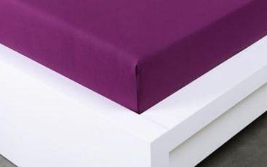 XPOSE ® Jersey prostěradlo dvoulůžko - švestková gramáž 150g/m 180x200 cm