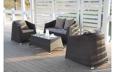 Zahradní nábytek Dimenza Edinburgh hnědý + K nákupu poukaz v hodnotě 1 000 Kč na další nákup + Doprava zdarma