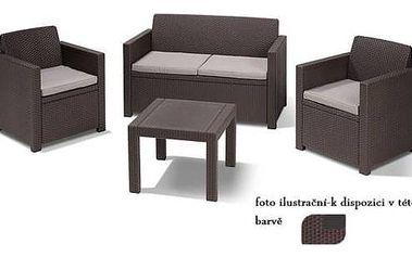 Ratanový nábytek Keter ALABAMA hnědý hnědý