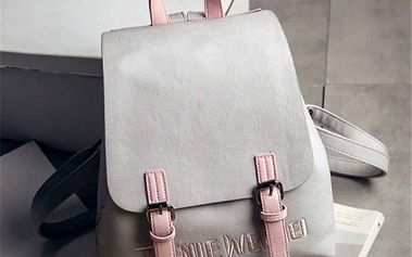 Nádherný koženkový batůžek s detaily v pastelových barvách - více variant