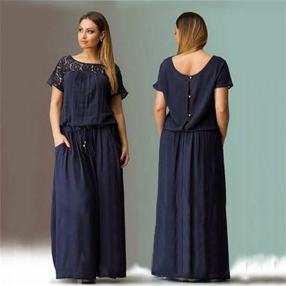 Elegantní dlouhé šaty s volným střihem