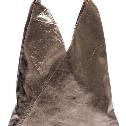 Metalická kožená kabelka Isabella Rhea Tribulus - doprava zdarma!